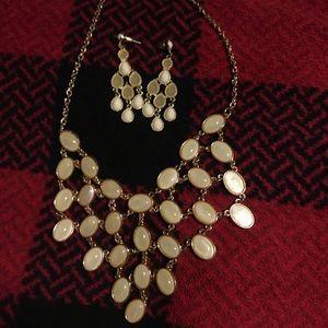 Cascade Necklace & Chandelier Earrings Set